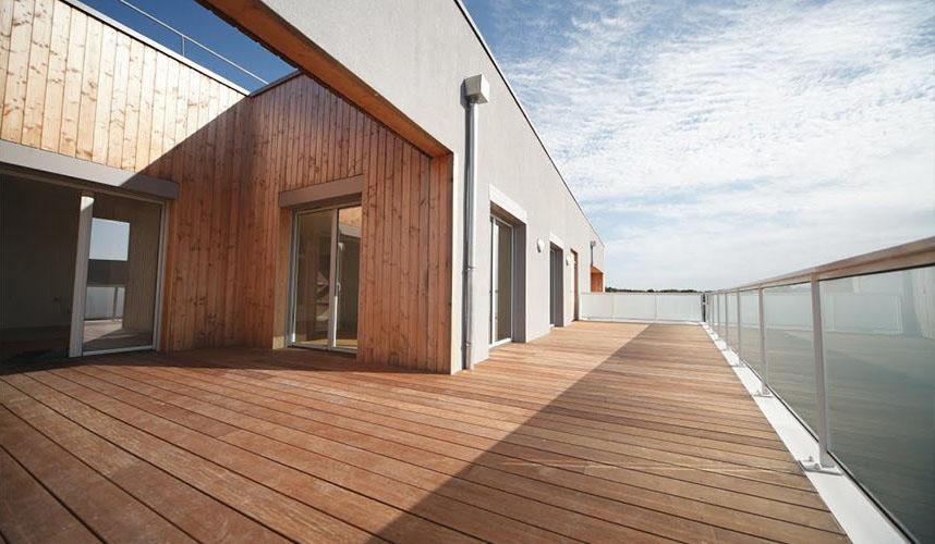 Vue sur le toit terrasse - Prgramme Vallon Hermé