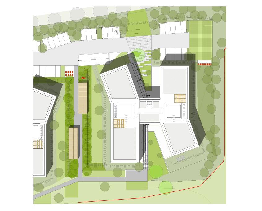 plan masse ensemble bâtiment