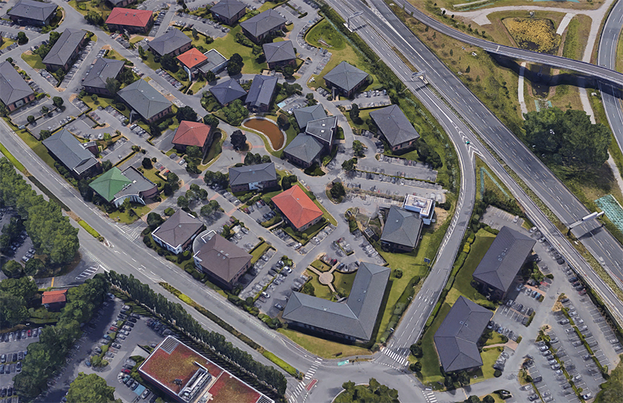 Plan de masse - Synergie Park à Lille