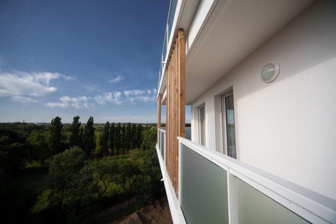 Vue terrasse immeuble Vallon d'Hermé