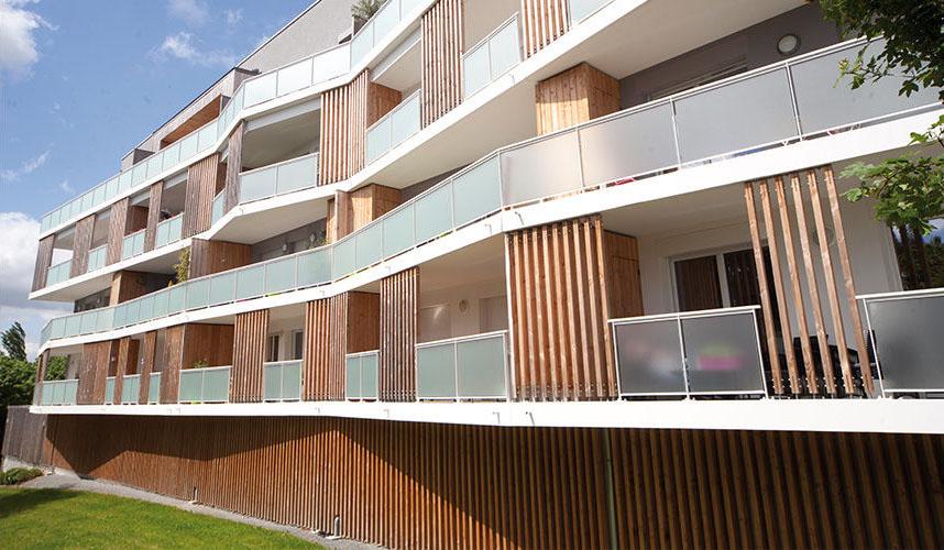 Vue façade immeuble Vallon Hermé