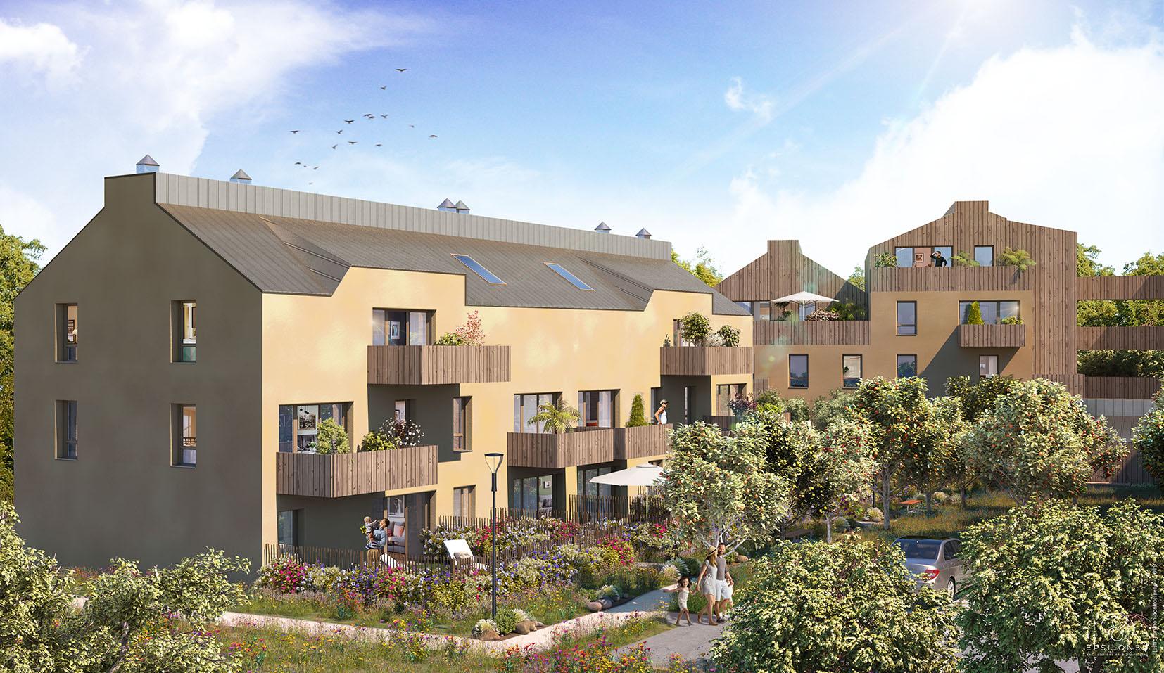 Résidence de logements neufs : Escale Nature à Guérande