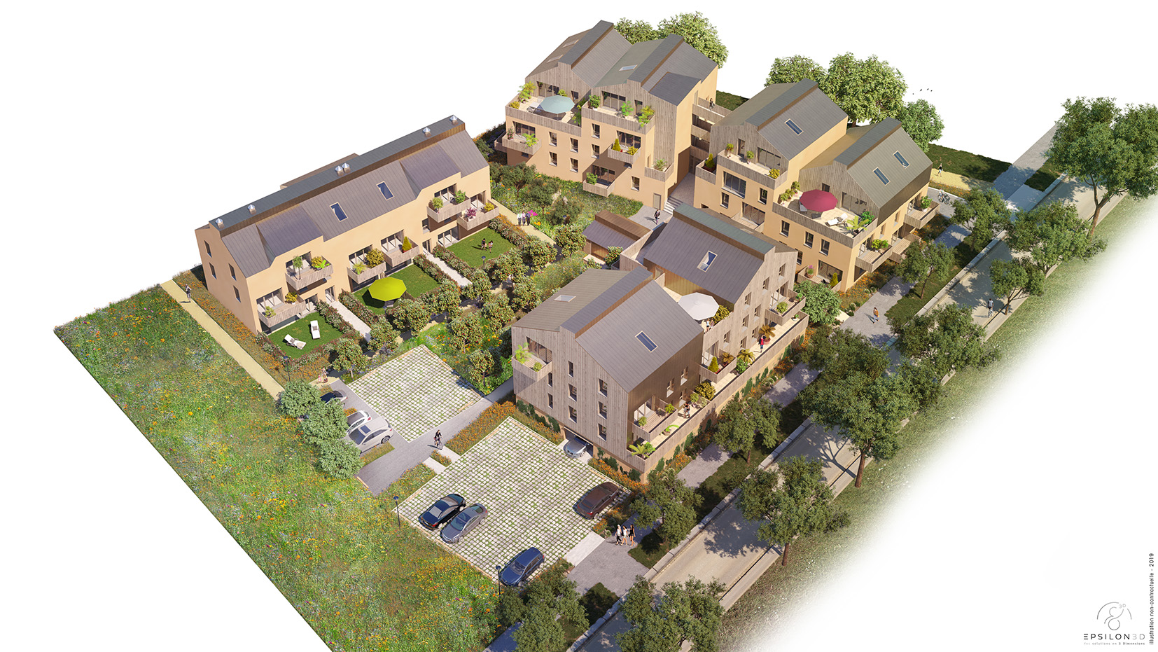 Appartements neufs à vendre - Résidence Escale Nature à Guérande